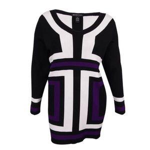 INC Color Block Sweater Dress/Tunic